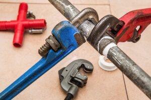 plumbing, pipe, wrench
